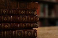 Old Leather Books by Wyoming_Jackrabbit
