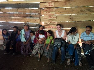 Community meeting in Guachtuq, Guatemala, January 2015.